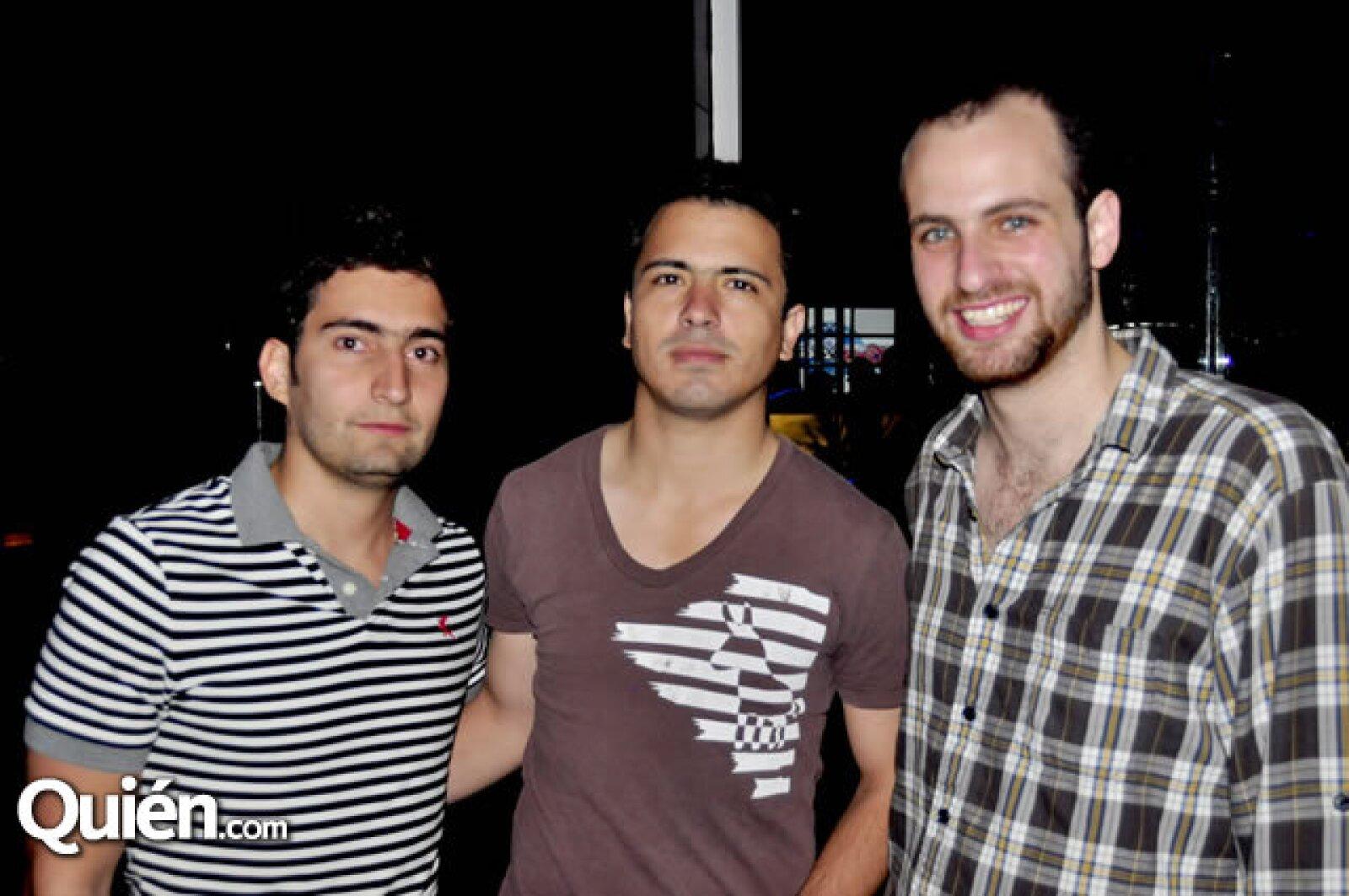 Humberto Salinas, Alain Duthoy y Rafael Chousal
