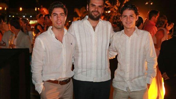 Juan Pablo Tejeda,Claudio de Angelis y José Luis Pinto