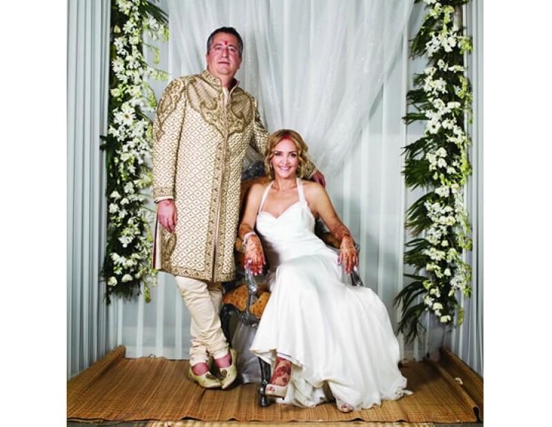 Jorge Vergara y Angélica Fuentes tuvieron una boda de ensueño.