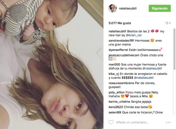 Natália Subtil con su hija Mila