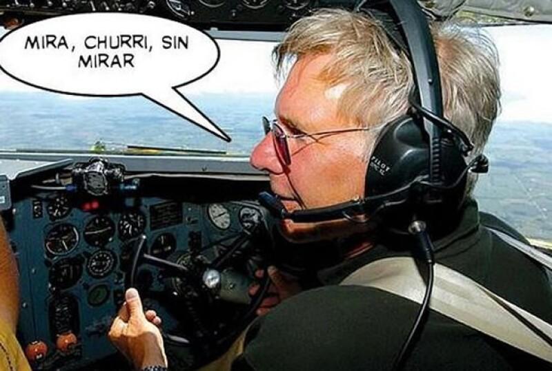Meme sobre el accidente de Harrison Ford.