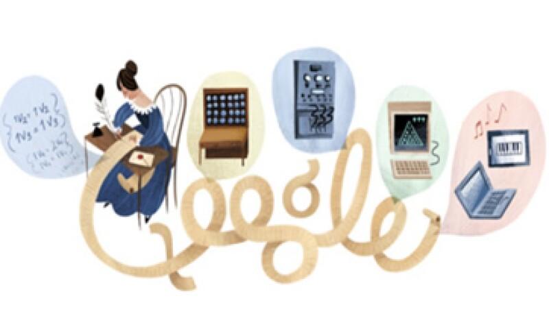 Ada Lovelace, que es festejada por Google, mostró a temprana edad su talento para las matemáticas.   (Foto tomada de Google.com)