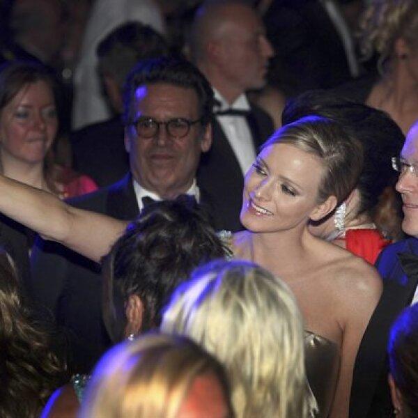Charlene Wittstock y el príncipe Alberto.