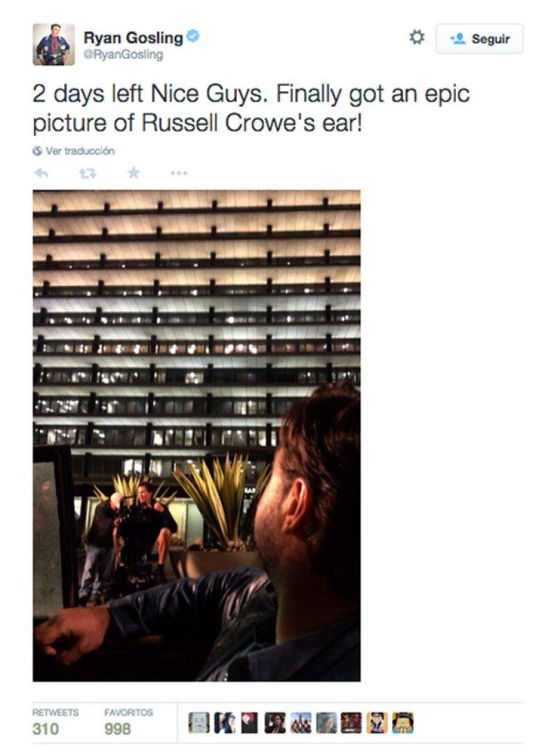 Además, se tomó el tiempo para bromear sobre su amigo y actor, Russell Crowe.