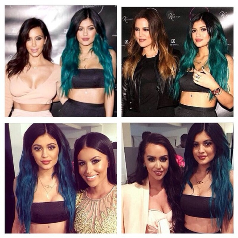 Kylie acompañada de sus hermanas y algunas amigas.