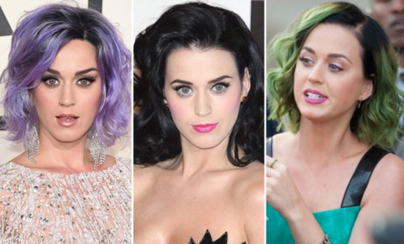 Pese a que hemos visto a Katy Perry con looks multicolor, probablemente es la primera vez que tiene el pelo tan corto.