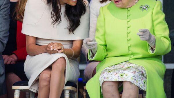 Meghan Markle y la reina Isabel
