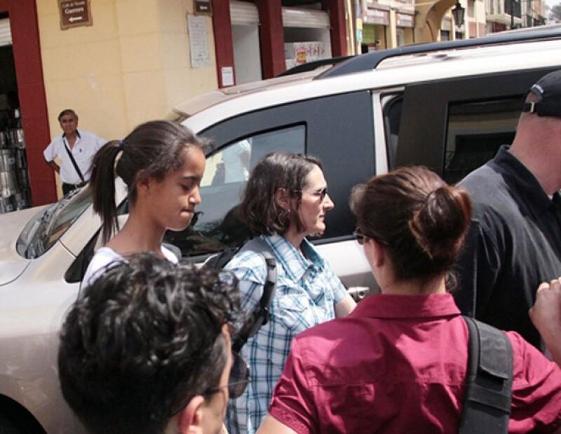 La Casa Blanca informó que Malia Ann, quien vacaciona en Oaxaca,  está fuera de peligro después del temblor de 7.8 grados Richter que sacudió a varios estados del país.