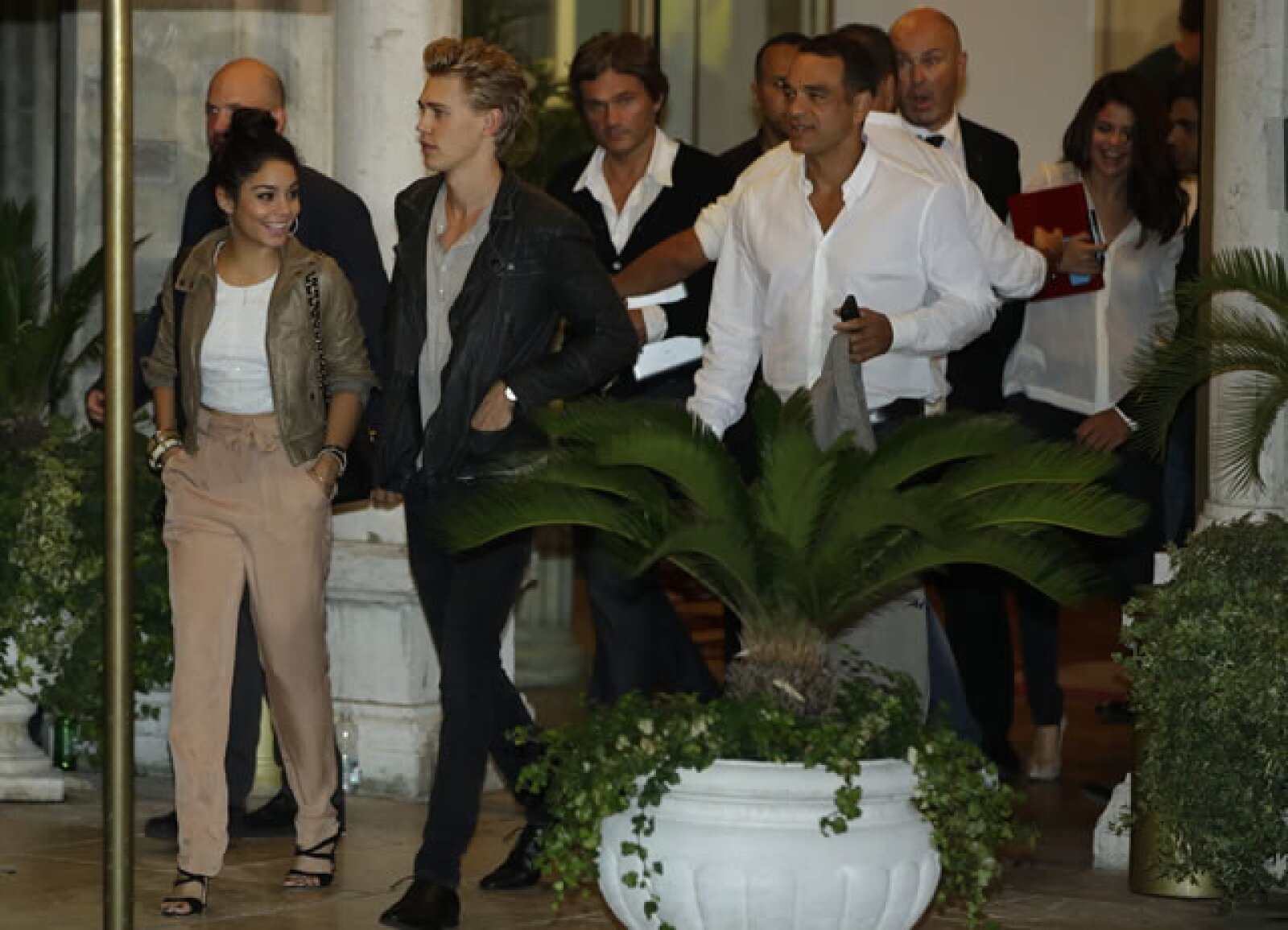 Vanessa Hudgens llegó para promover la película `Springbreakers´.
