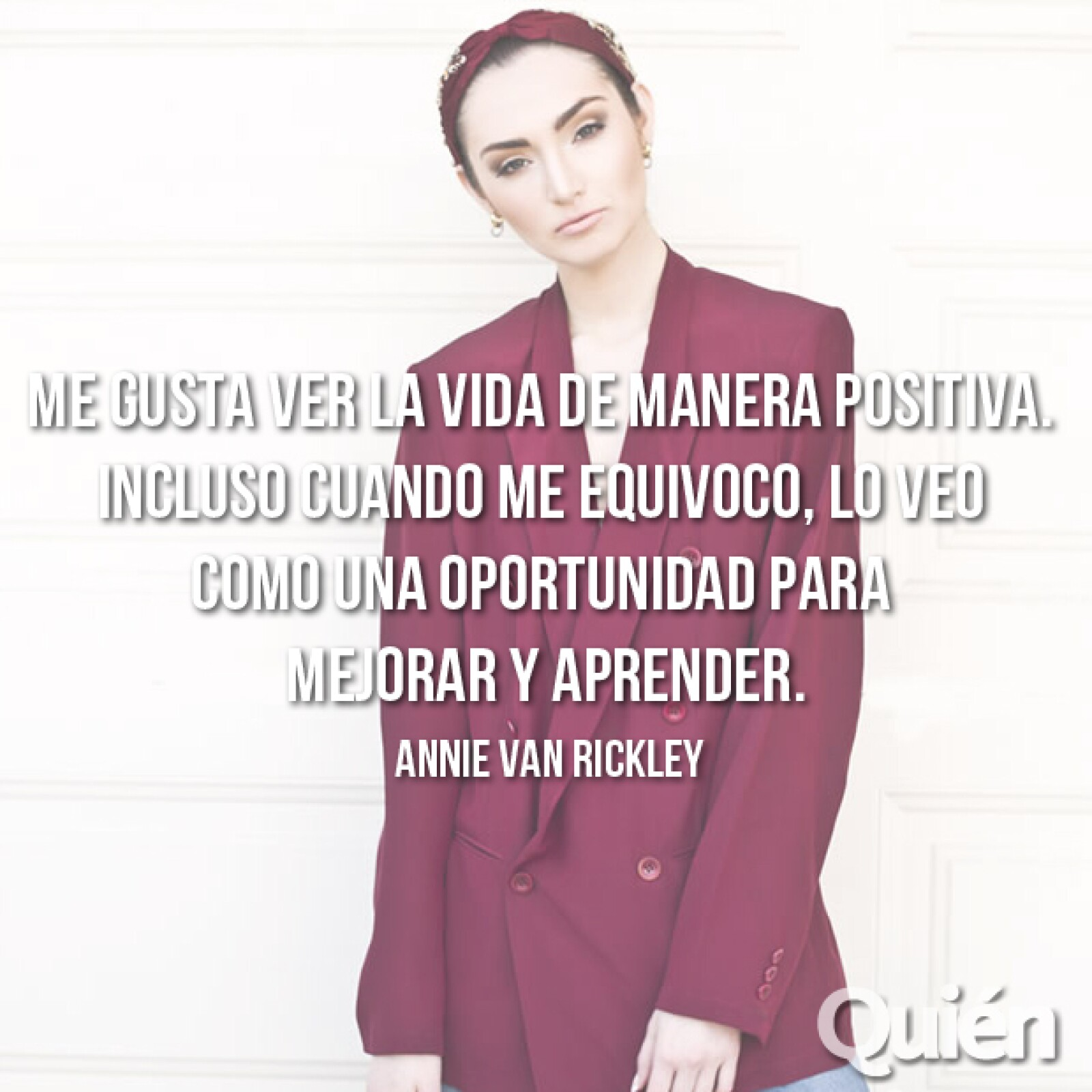 Annie Van Rickley, modelo. Considerada internacionalmente como la Linda Evangelista mexicana.