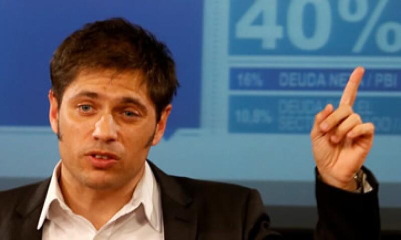 El ministro de Economía dijo que el fallo de EU dejaría a Argentina expuesto a reclamos por 15,000 mdd. (Foto: Reuters)