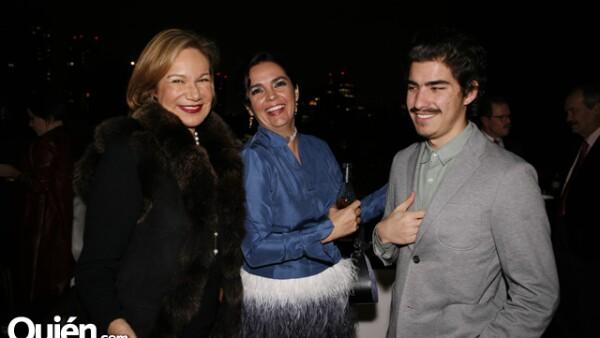 Guadalupe Loaeza, Verónica González e Ignacio Tovar