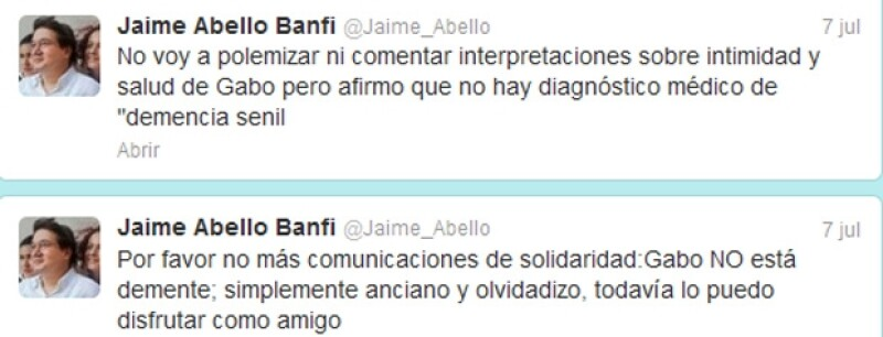 El director de la FNPI negó que el escritor colombiano padeciera dicha enfermedad, tal y como lo había confirmado su hermano.