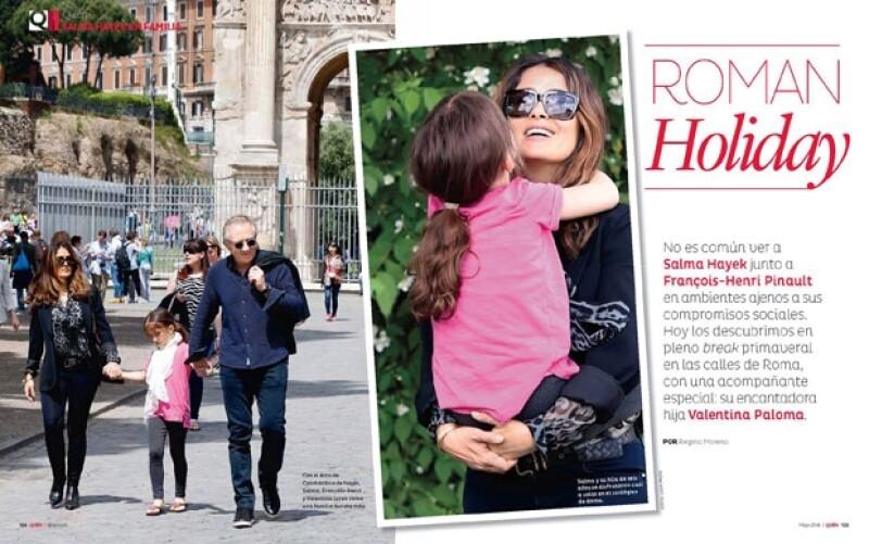 La familia Pinault de descanso en Roma.