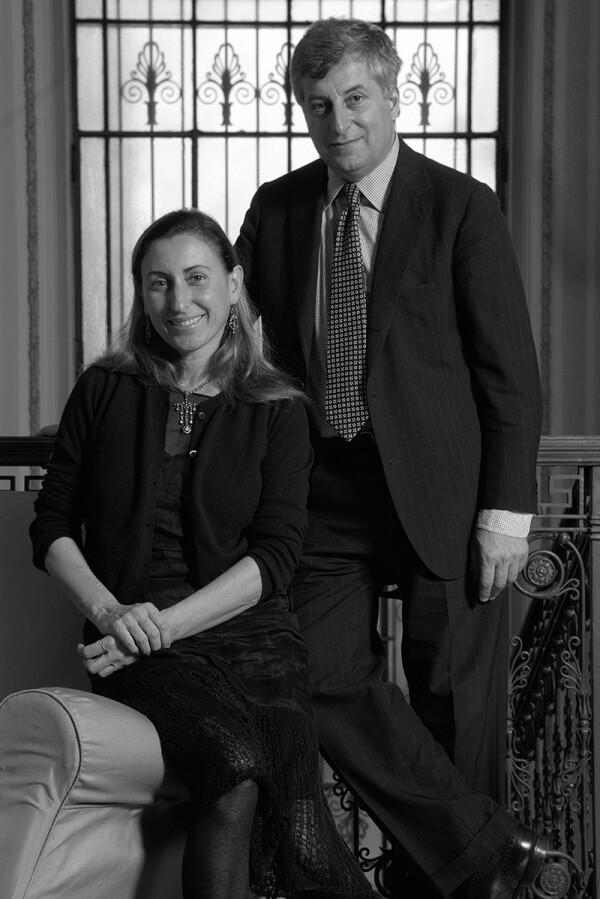 Miuccia Prada and Husband Patrizio Bertelli, Milan