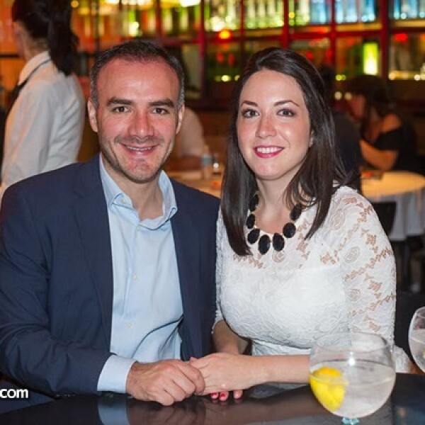 Daniel Rocher y Mariela Flores
