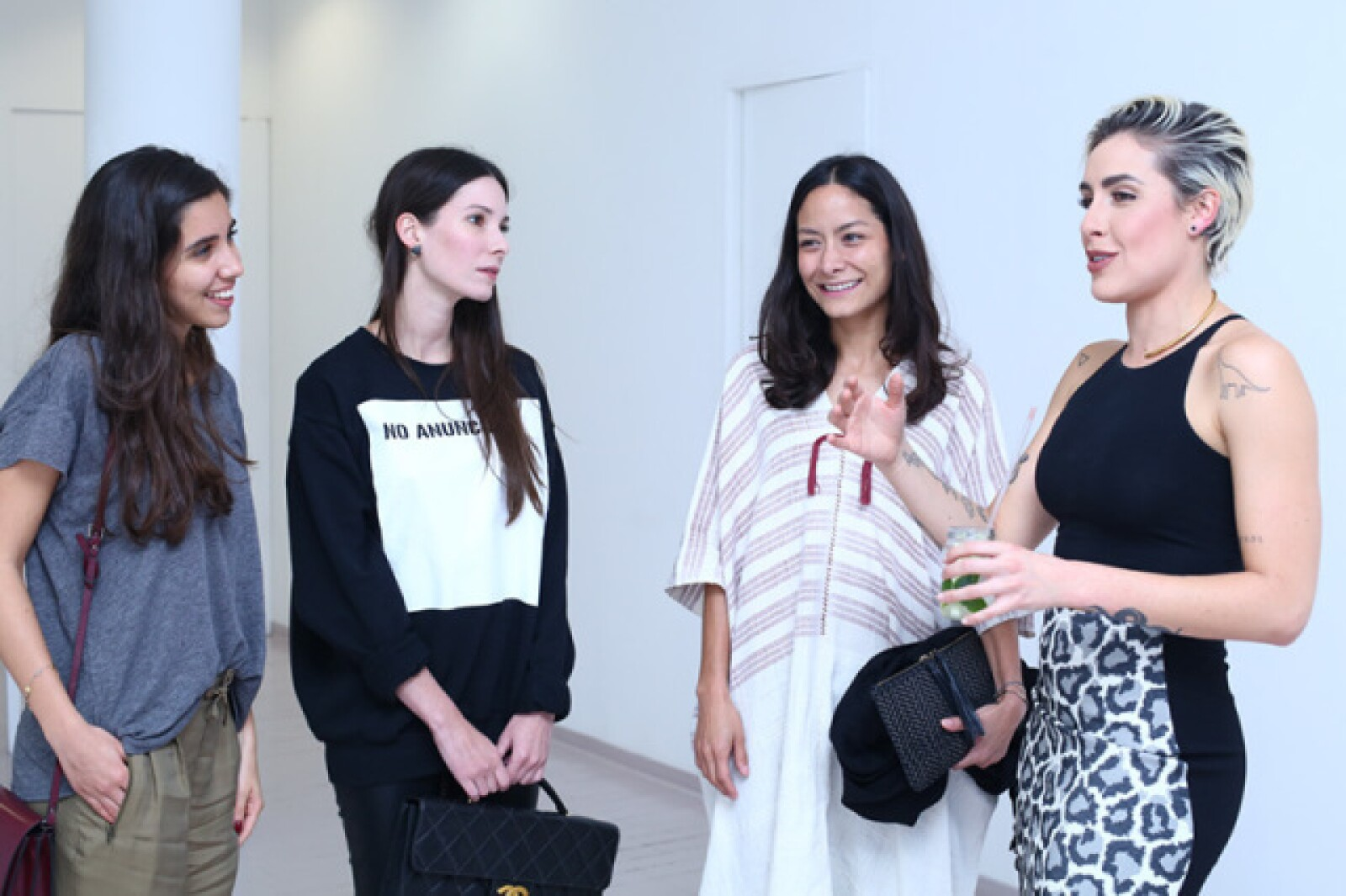 Alexia Ramírez, Inés Abourchard, Pamela Ocampo y Antonieta Fernández