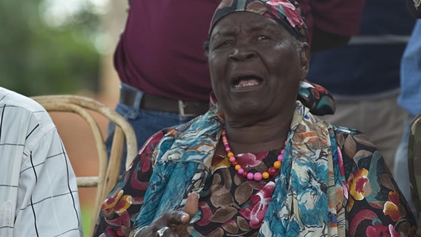 La abuela Obama da conferencia
