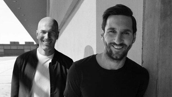 Zinedine Zidane y Lionel Messi