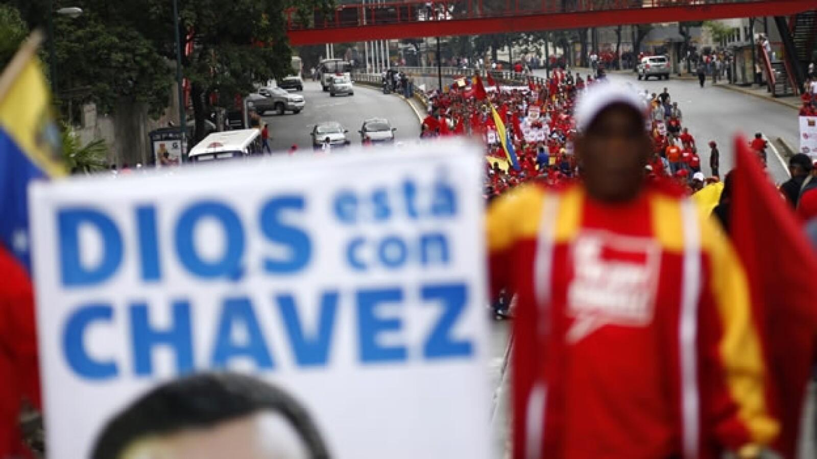 Chavistas marchan en Caracas