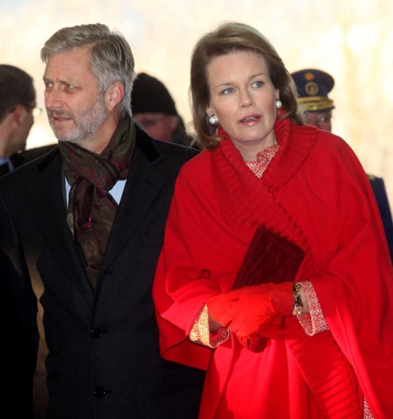 El príncipe Felipe con su esposa Matilde.