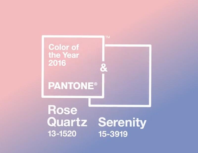 Pantone anuncia, no uno sino dos colores del año: `Rose Quartz´ y `Serenity´. Conoce porqué se eligieron estos tonos y quién está detrás de esto.