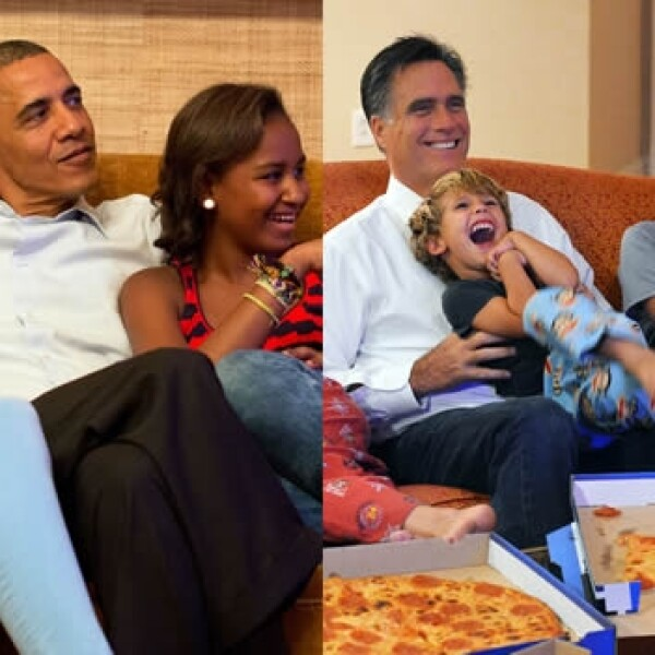 Barack Obama Mitt Romney hijos