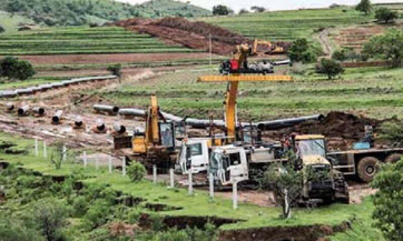 Las obras del gasoducto Morelos en el lado de Puebla avanzan con problemas. Es una inversión de casi 200 millones de dólares. (Foto: Edgar Córdova / Expansión)