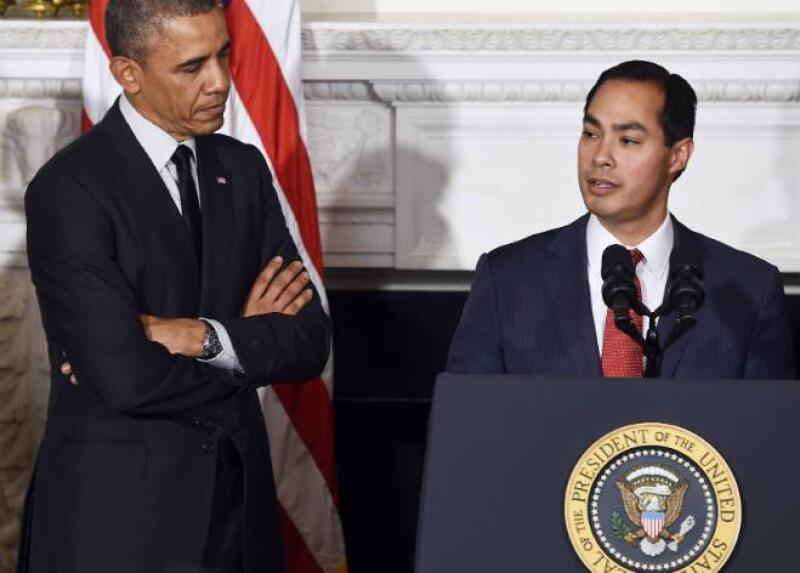 Juli�n Castro y Barack Obama