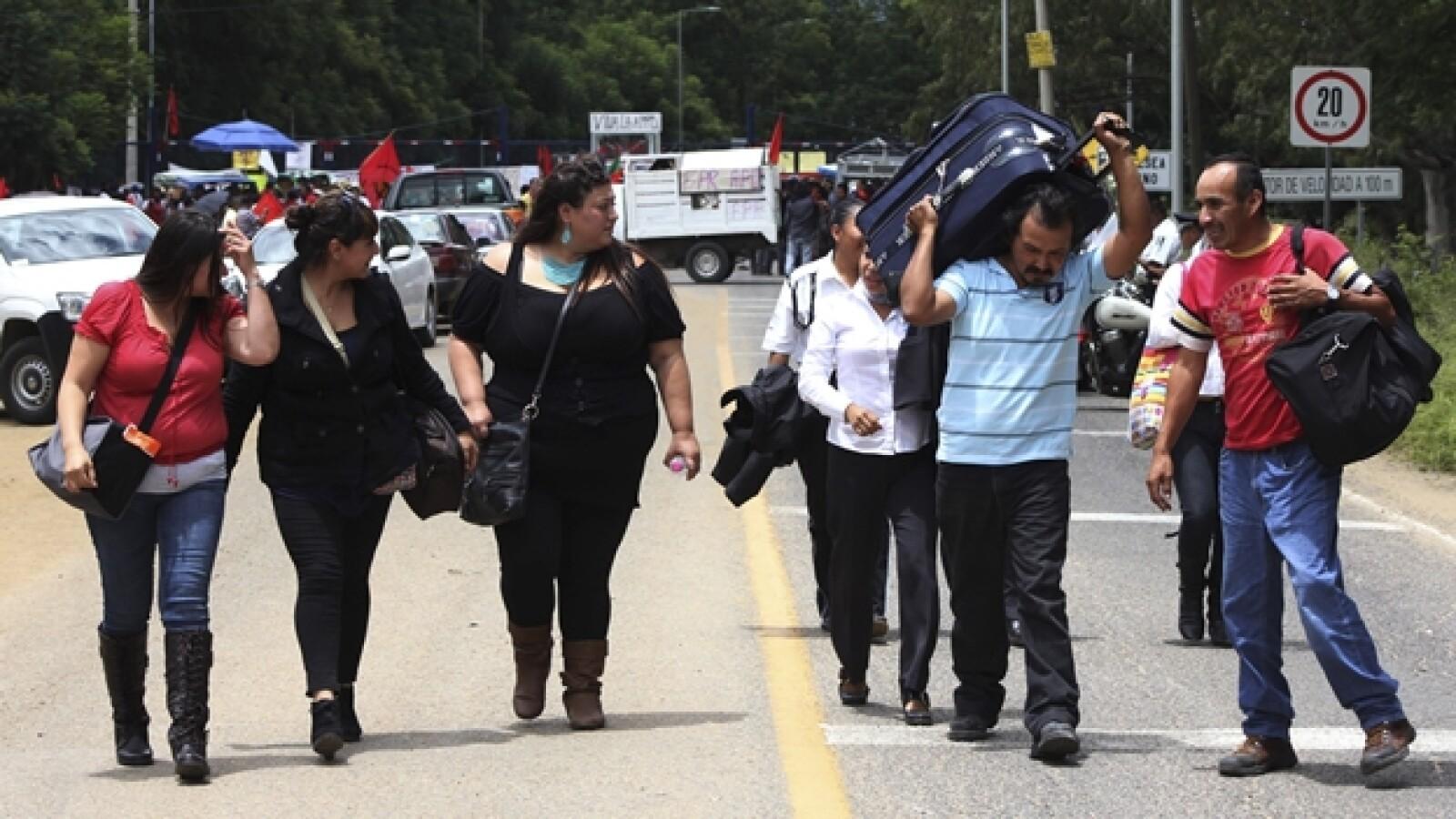 protesta de maestros en oaxaca