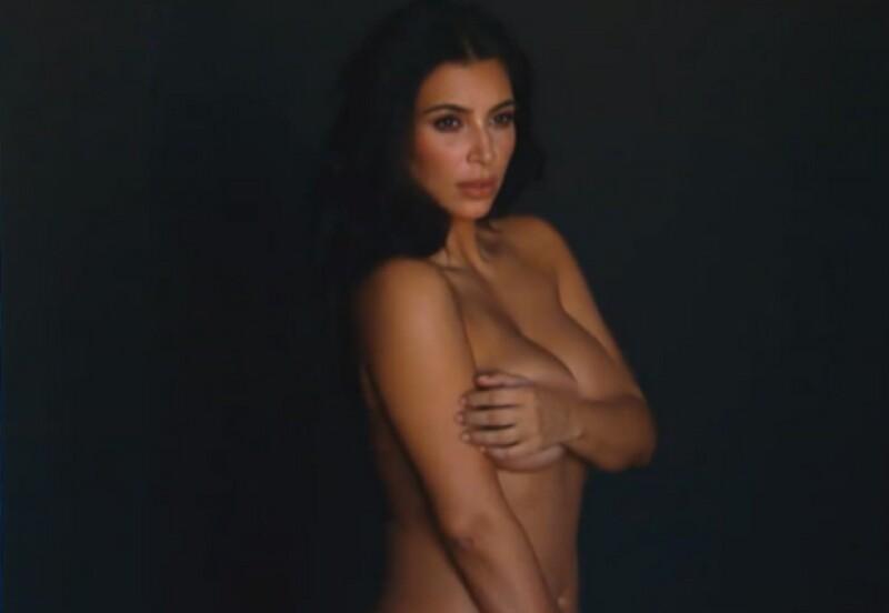 """""""Qué suertudo"""", publicó el cantante en una de las sensuales imágenes de Kim."""