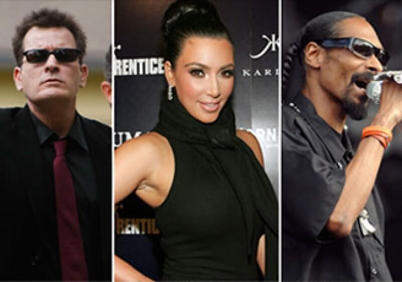 Además de Sheen, Kim Kardashian y Snoop Dogg son celebridades que se benefician de Ad.ly. (Foto: CNNMoney)