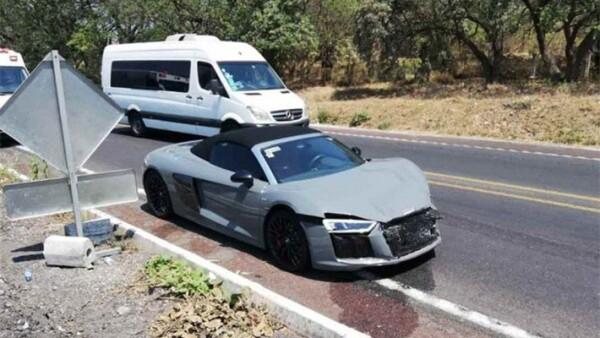 Choque Audi R8 y Lamborghini Huracán