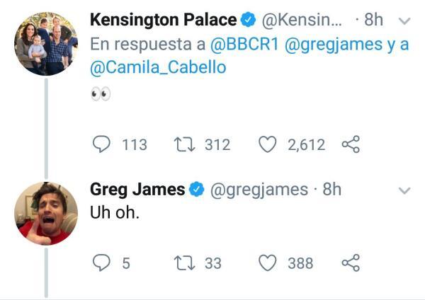 Respuesta de Kate Middleton a Camila Cabello