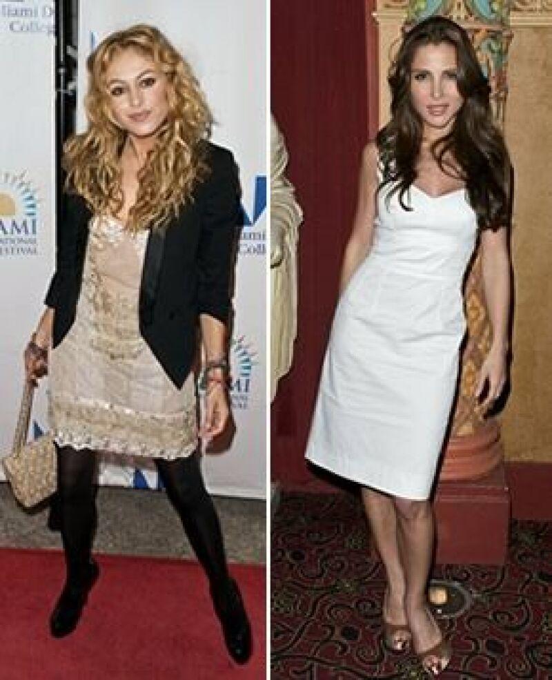 Muy sensuales y carismáticas, Paulina y Elsa asistieron a la premiere de la cinta Máncora en el Festival Internacional de Cine Miami 2009.