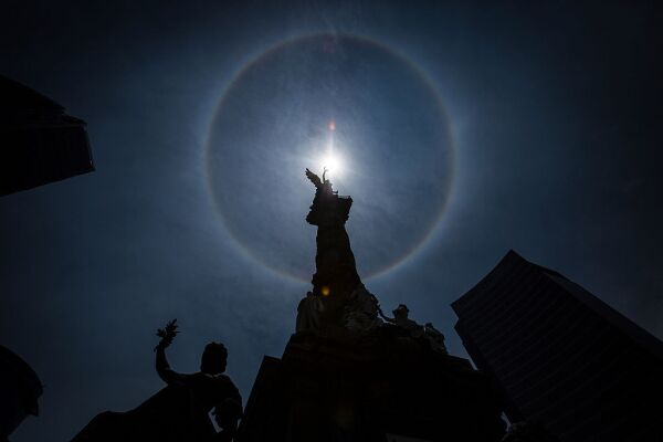 Halo Around the Sun in Mexico
