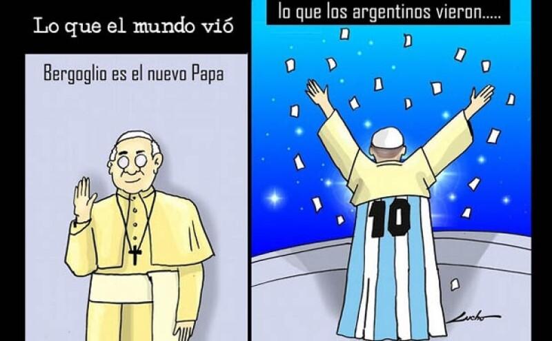 Esta fue una de las imágenes que circularon por la red tras la noticia del nuevo Papa.