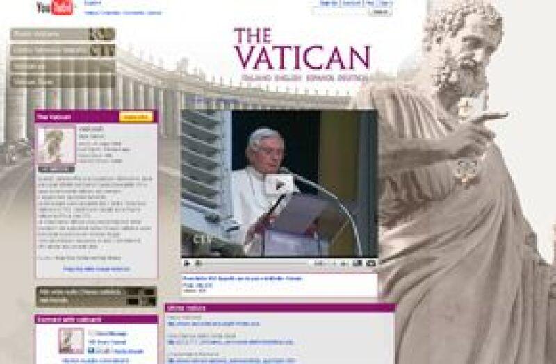 La Santa Sede presentó www.youtube.com/vaticanit, por el cual emitirá videos sobre las actividades del Papa.