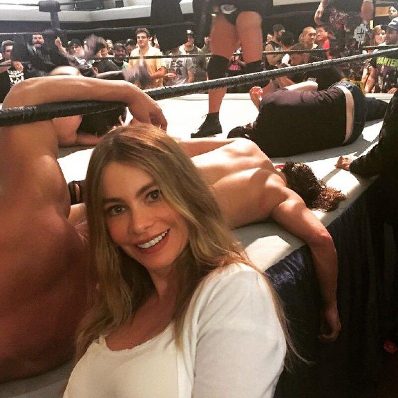 Además, durante el fin de semana se dio tiempo de ir a ver la lucha libre.