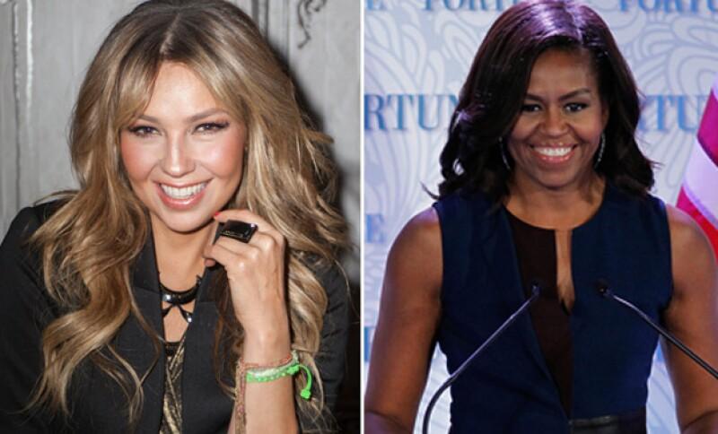 La cantante confesó que le gustaría algún día vestir a la esposa de Barack Obama con uno de los diseños de su nueva colección de ropa.