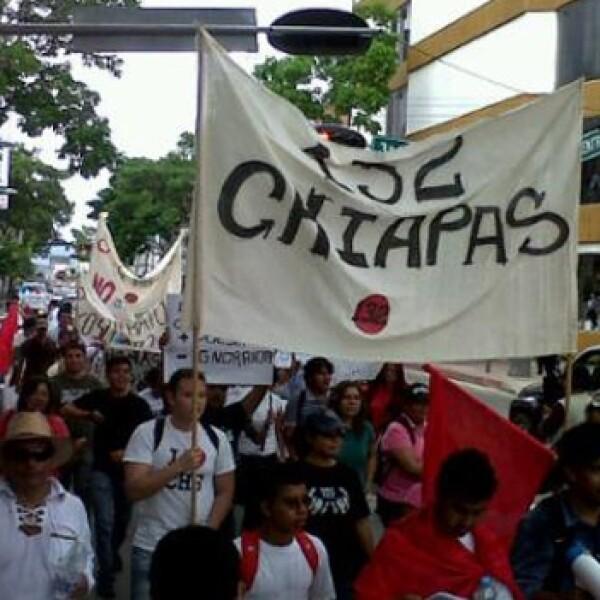 marcha antipeña Chiapas