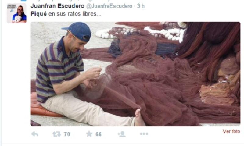 Algunos de los memes y comentarios en redes sociales sobre el peculiar festejo de Piqué.
