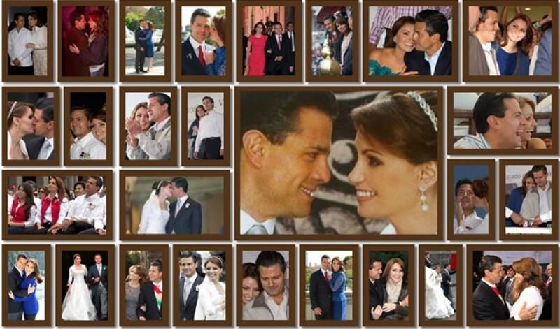 Este es el collage que Angélica Rivera compartió en Facebook.