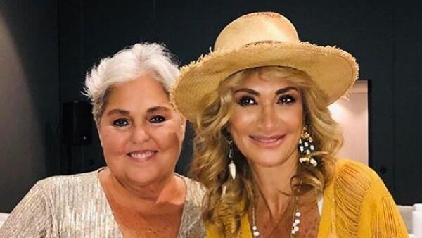 Lupita D'alessio y Adela Micha
