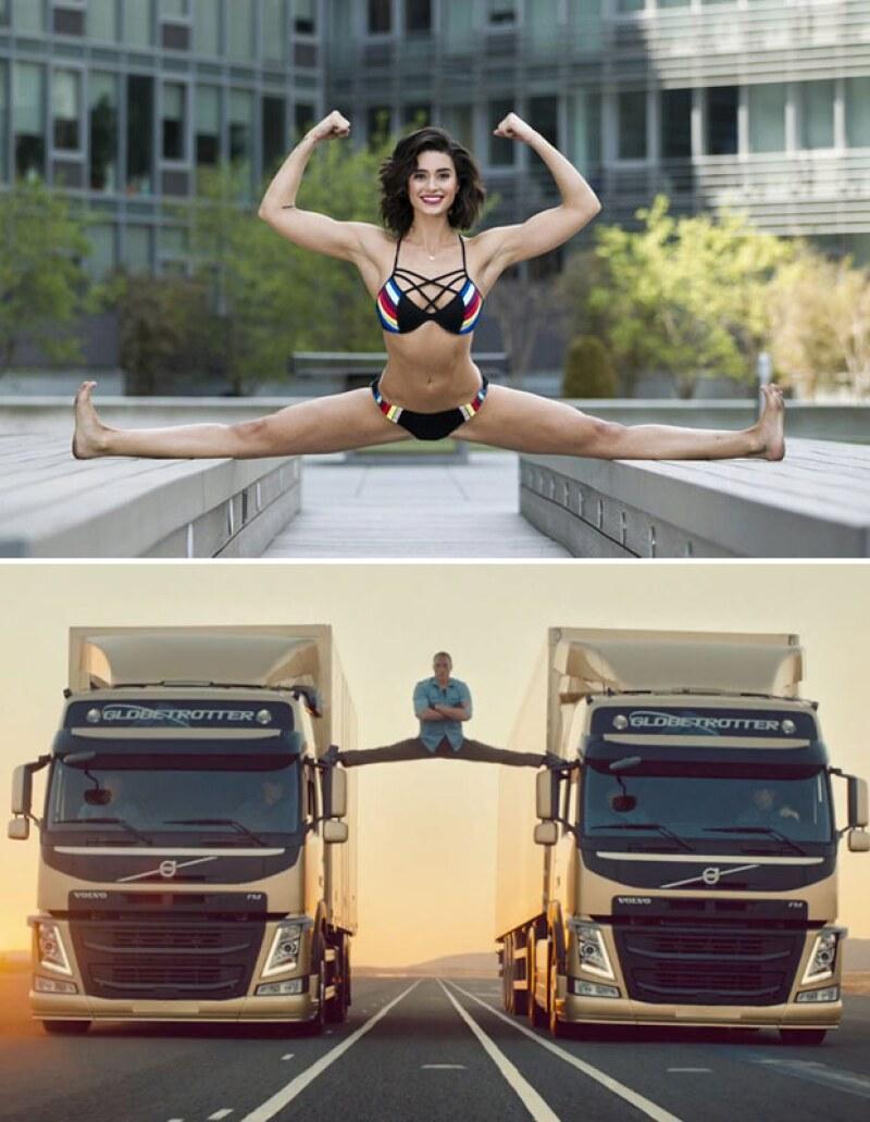 Bianca recreó la famosa pose de su papá en un comercial de Volvo.