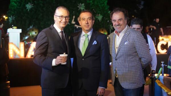 Ernesto Izquierdo,José Luis del Hoyo y Álvaro Arizmendi