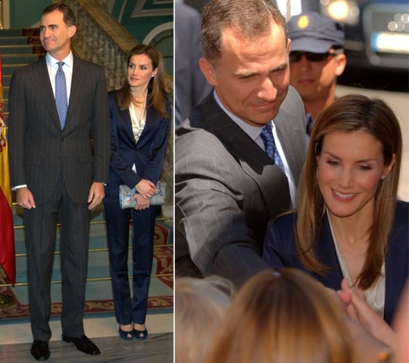 Felipe y Letizia en su primer acto oficial como reyes hace algunas semanas. Se veían sonrientes.