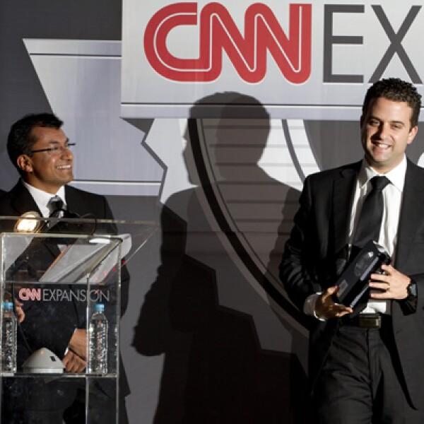 El premio a la categoría 'Financiero' se lo llevó el portal de Seguros S, y lo recibió Isaac Rubinstein.