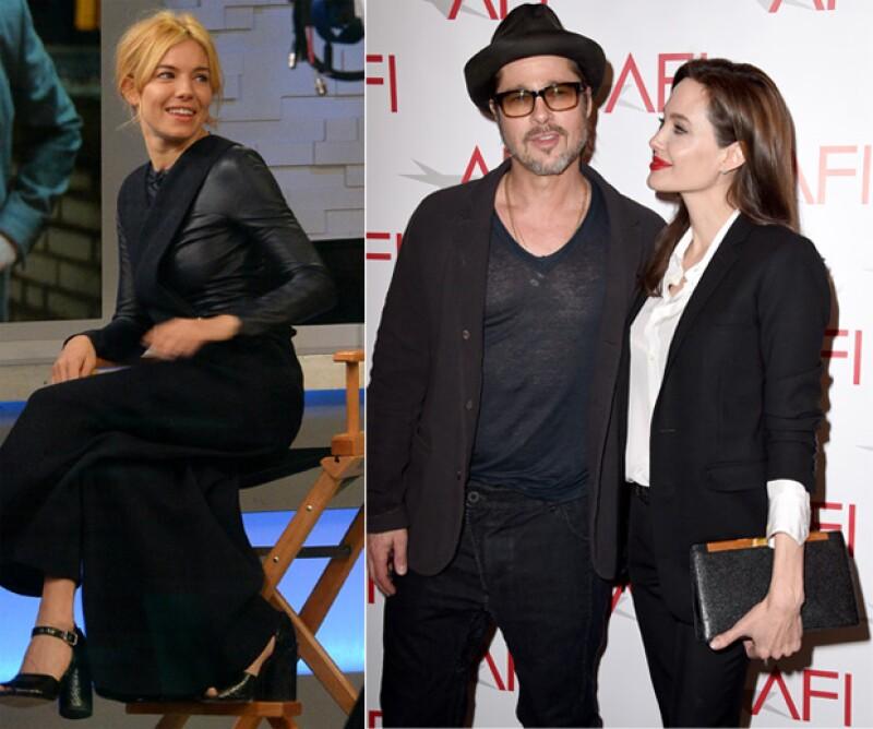 Según medios estadounidenses, la actriz tiene miedo de perder a Brad Pitt y le ha prohibido visitar el set de película que él produce y protagoniza Sienna.