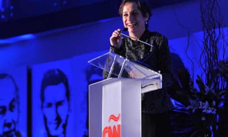 Carmen Aristegui acusó a la Canitec de defender los intereses de Televisa. (Foto: Víctor Abreu/Cortesía Quién)